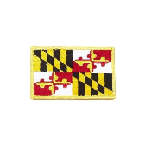 """MARYLAND USA STATE SQUARE FLAG IRON ON PATCH CREST BADGE .. SIZE : 2.3"""" X 3.25"""" INCHES .. NEW"""