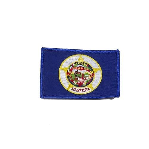 "MINNESOTA USA STATE SQUARE FLAG IRON ON PATCH CREST BADGE .. SIZE : 2.3"" X 3.25"" INCHES .. NEW"