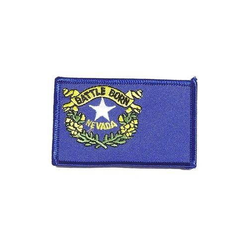 """NEVADA USA STATE SQUARE FLAG IRON ON PATCH CREST BADGE .. SIZE : 2.3"""" X 3.25"""" INCHES .. NEW"""