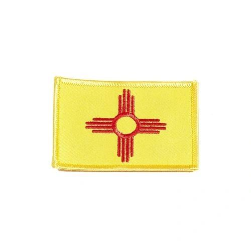 """NEW MEXICO USA STATE SQUARE FLAG IRON ON PATCH CREST BADGE .. SIZE : 2.3"""" X 3.25"""" INCHES .. NEW"""