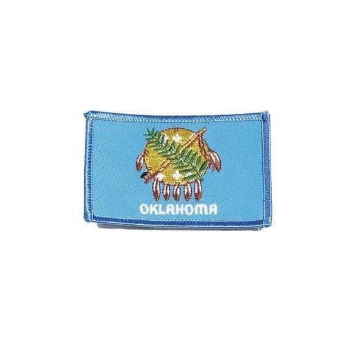 "OKLAHOMA USA STATE SQUARE FLAG IRON ON PATCH CREST BADGE .. SIZE : 2.3"" X 3.25"" INCHES .. NEW"