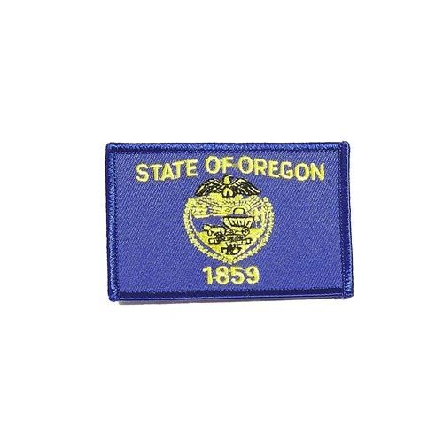 "OREGON USA STATE SQUARE FLAG IRON ON PATCH CREST BADGE .. SIZE : 2.3"" X 3.25"" INCHES .. NEW"