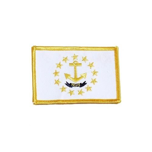"RHODE ISLAND USA STATE SQUARE FLAG IRON ON PATCH CREST BADGE .. SIZE : 2.3"" X 3.25"" INCHES .. NEW"