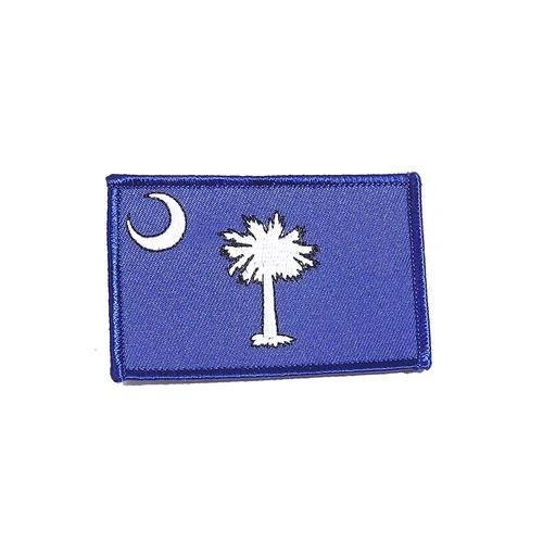 "SOUTH CAROLINA USA STATE SQUARE FLAG IRON ON PATCH CREST BADGE .. SIZE : 2.3"" X 3.25"" INCHES .. NEW"