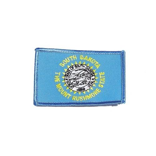 "SOUTH DAKOTA USA STATE SQUARE FLAG IRON ON PATCH CREST BADGE .. SIZE : 2.3"" X 3.25"" INCHES .. NEW"