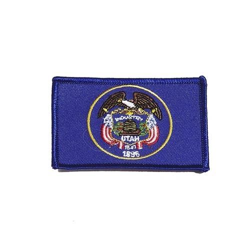 "UTAH USA STATE SQUARE FLAG IRON ON PATCH CREST BADGE .. SIZE : 2.3"" X 3.25"" INCHES .. NEW"