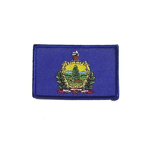 "VERMONT USA STATE SQUARE FLAG IRON ON PATCH CREST BADGE .. SIZE : 2.3"" X 3.25"" INCHES .. NEW"