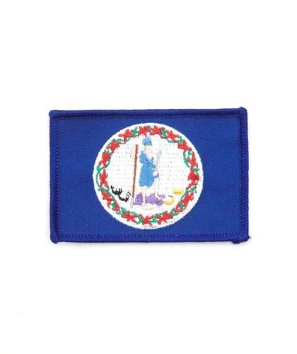 "VIRGINIA USA STATE SQUARE FLAG IRON ON PATCH CREST BADGE .. SIZE : 2.3"" X 3.25"" INCHES .. NEW"