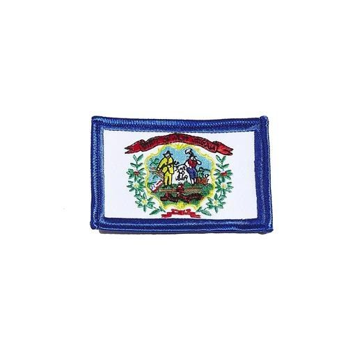 "WEST VIRGINIA USA STATE SQUARE FLAG IRON ON PATCH CREST BADGE .. SIZE : 2.3"" X 3.25"" INCHES .. NEW"