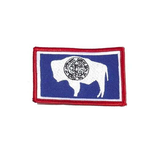 "WYOMING USA STATE SQUARE FLAG IRON ON PATCH CREST BADGE .. SIZE : 2.3"" X 3.25"" INCHES .. NEW"