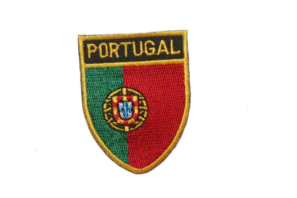 "PORTUGAL COUNTRY FLAG OVAL SHIELD EMBROIDERED IRON ON PATCH CREST BADGE .. SIZE : 2"" X 2.5"" INCHES .. NEW"