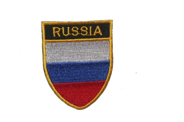 "RUSSIA COUNTRY FLAG OVAL SHIELD EMBROIDERED IRON ON PATCH CREST BADGE .. SIZE : 2"" X 2.5"" INCHES .. NEW"