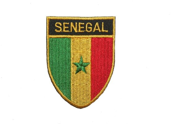 "SENEGAL COUNTRY FLAG OVAL SHIELD EMBROIDERED IRON ON PATCH CREST BADGE .. SIZE : 2"" X 2.5"" INCHES .. NEW"