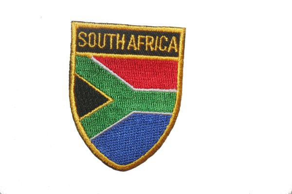 "SOUTH AFRICA COUNTRY FLAG OVAL SHIELD EMBROIDERED IRON ON PATCH CREST BADGE .. SIZE : 2"" X 2.5"" INCHES .. NEW"