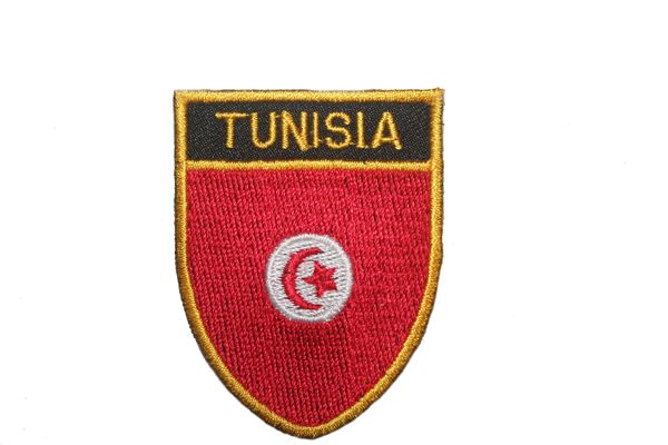 "TUNISIA COUNTRY FLAG OVAL SHIELD EMBROIDERED IRON ON PATCH CREST BADGE .. SIZE : 2"" X 2.5"" INCHES .. NEW"