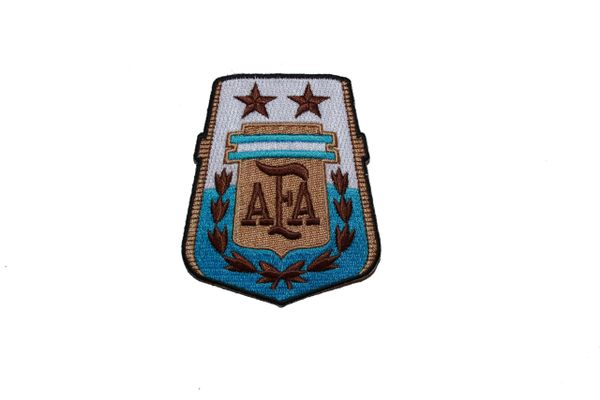 "ARGENTINA AFA LOGO SOCCER WORLD CUP EMBROIDERED IRON ON PATCH CREST BADGE .. SIZE : 2.75"" x 3.25"" INCHES .. NEW"