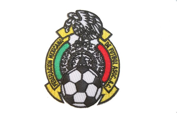 "MEXICO - FEDERACION MEXICANA DE FUTBOL ASSOC.. LOGO FIFA SOCCER WORLD CUP EMBROIDERED IRON ON PATCH CREST BADGE .. SIZE : 2"" X 2.5"" INCHES .. NEW"