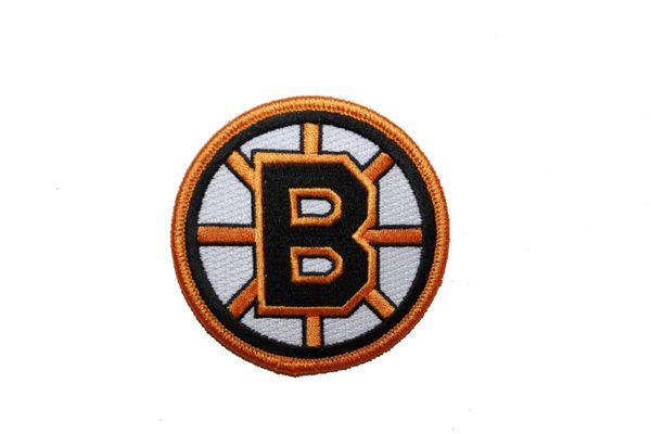 "BOSTON BRUINS GOLD & BLACK NHL LOGO CIRCLE SHAPE EMBROIDERED IRON ON PATCH CREST BADGE .. SIZE : 3"" x IN DIAMETER INCHES .. NEW"