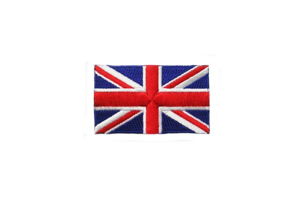 UNITED KINGDOM UK NATIONAL COUNTRY FLAG IRON ON PATCH CREST BADGE .. 1.5 X 2.5 INCHES .. NEW