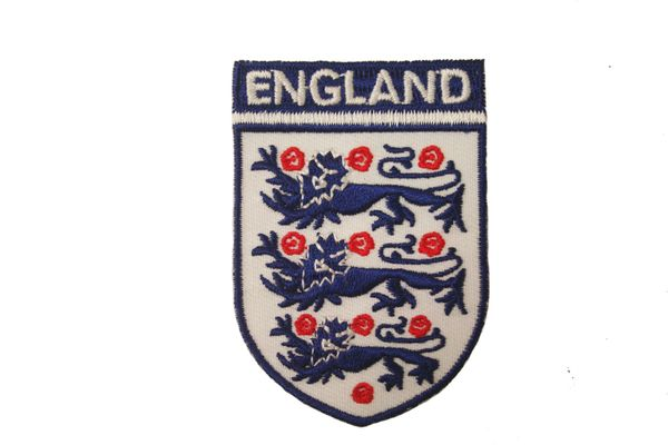 "ENGLAND 3 LIONS EMBROIDERED IRON ON PATCH CREST BADGE .. SIZE : 1 3/4"" x 2 1/2"" INCHES .. NEW"