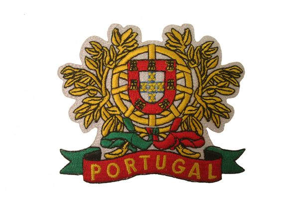 "PORTUGAL COUNTRY FLAG LARGE EMBROIDERED IRON ON PATCH CREST BADGE .. SIZE : 3 3/4"" x 3 1/4"" INCHES .. NEW"