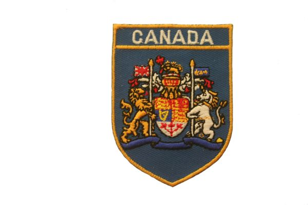 CANADA BLUE SHIELD COUNTRY FLAG IRON ON PATCH CREST BADGE .. NEW