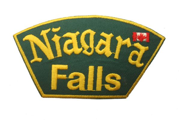 NIAGARA FALLS COUNTRY FLAG IRON ON PATCH CREST BADGE .. NEW