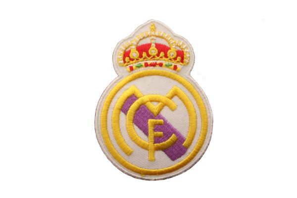 "REAL MADRID LOGO FIFA SOCCER WORLD CUP EMBROIDERED IRON ON PATCH CREST BADGE .. SIZE : 2 1/4"" x 3"" INCHES .. NEW"