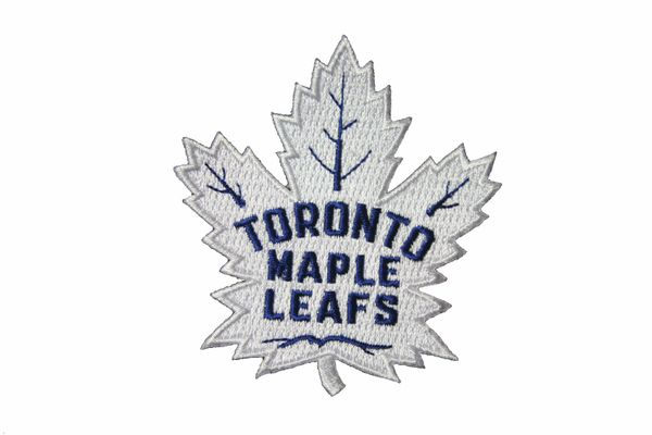 "TORONTO MAPLE LEAFS WHITE NHL ( NEW ) LOGO EMBROIDERED IRON ON PATCH CREST BADGE .. SIZE : 2.75"" x 3"" INCH"
