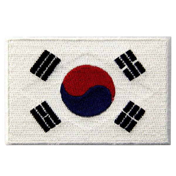 SOUTH KOREA NATIONAL COUNTRY FLAG IRON ON PATCH CREST BADGE