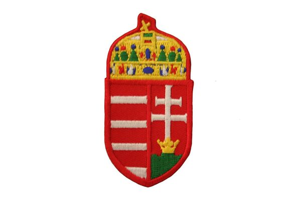 HUNGARIAN COAT OF ARMS IRON ON PATCH CREST BADGE