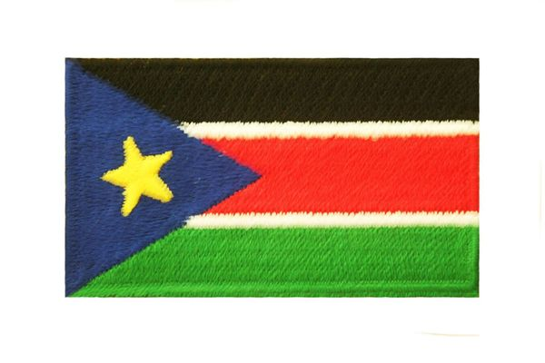 SOUTH SUDAN COUNTRY FLAG IRON ON PATCH CREST BADGE