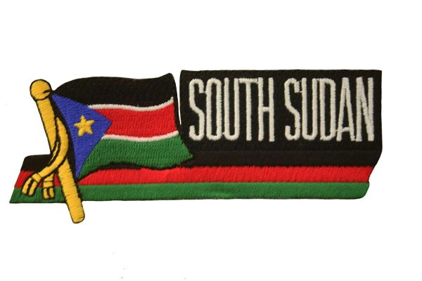 SOUTH SUDAN SIDEKICK WORD COUNTRY FLAG IRON ON PATCH CREST BADGE