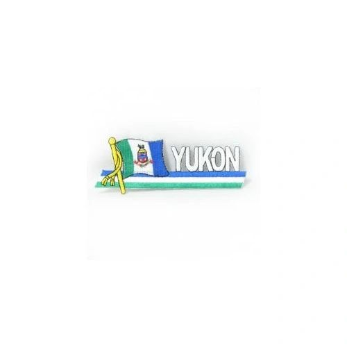 YUKON CANADA PROVINCIAL FLAG SIDEKICK WORD IRON ON PATCH CREST BADGE