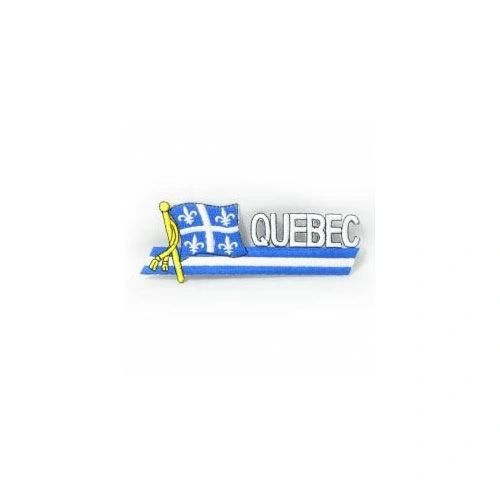 QUEBEC CANADA PROVINCIAL FLAG SIDEKICK WORD IRON ON PATCH CREST BADGE
