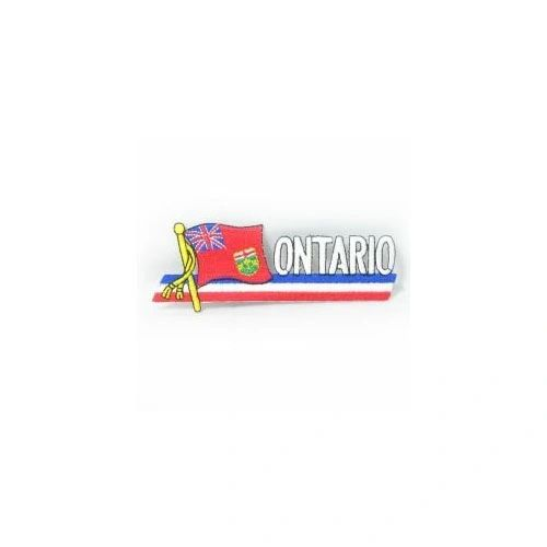 ONTARIO CANADA PROVINCIAL FLAG SIDEKICK WORD IRON ON PATCH CREST BADGE