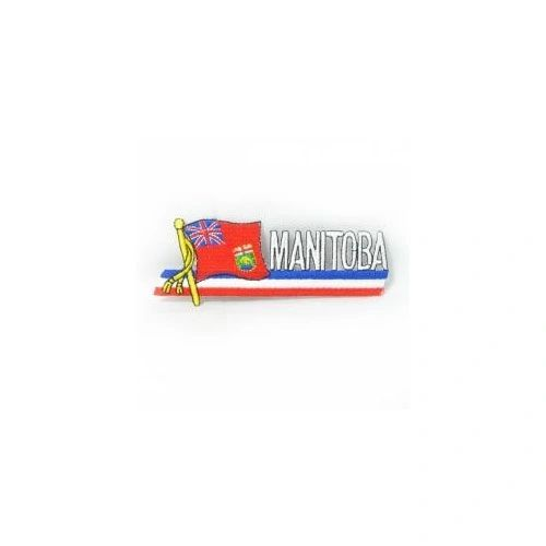 MANITOBA CANADA PROVINCIAL FLAG SIDEKICK WORD IRON ON PATCH CREST BADGE
