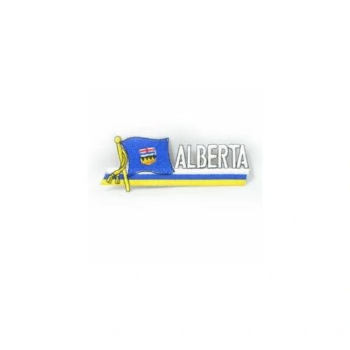 ALBERTA CANADA PROVINCIAL FLAG SIDEKICK WORD IRON ON PATCH CREST BADGE