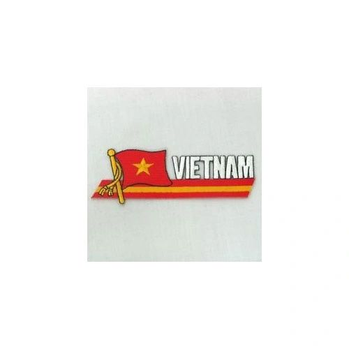 VIETNAM NORTH COUNTRY FLAG SIDEKICK WORD IRON ON PATCH CREST BADGE