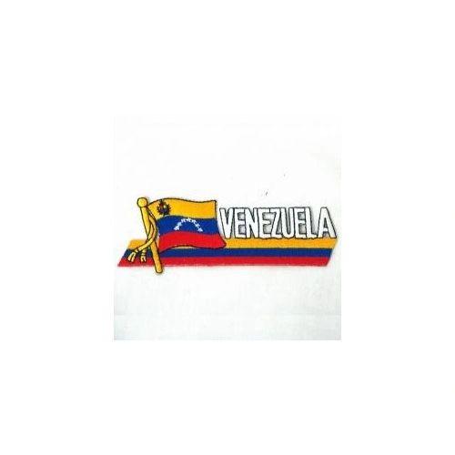 VENEZUELA COUNTRY FLAG SIDEKICK WORD IRON ON PATCH CREST BADGE