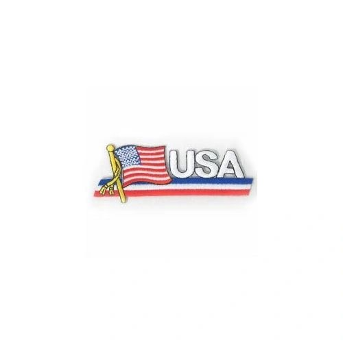 USA COUNTRY FLAG SIDEKICK WORD IRON ON PATCH CREST BADGE