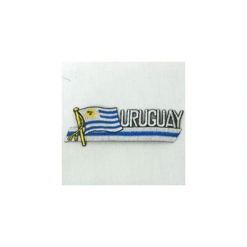 URUGUAY COUNTRY FLAG SIDEKICK WORD IRON ON PATCH CREST BADGE