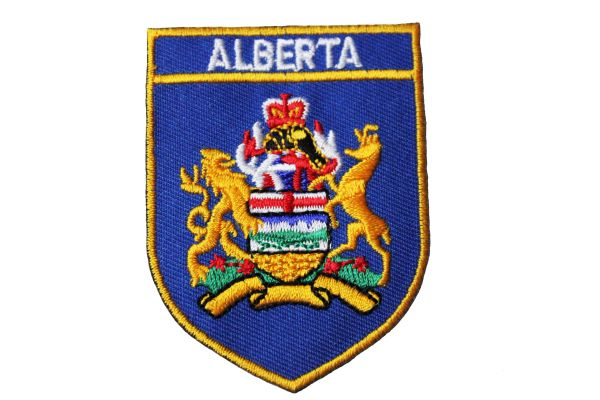 ALBERTA BLUE SHIELD CANADA PROVINCIAL FLAG IRON ON PATCH CREST BADGE