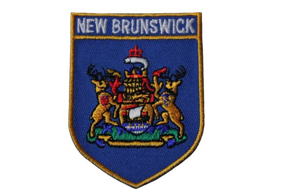 NEW BRUNSWICK BLUE SHIELD CANADA PROVINCIAL FLAG IRON ON PATCH CREST BADGE