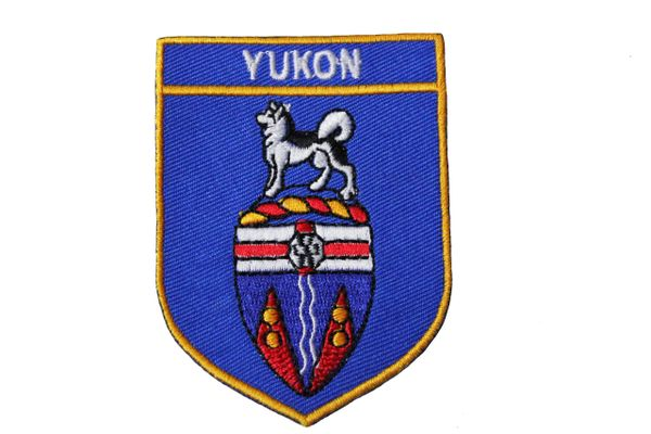 YUKON BLUE SHIELD CANADA TERRITORY FLAG IRON ON PATCH CREST BADGE