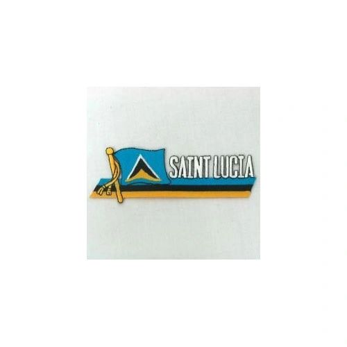 SAINT LUCIA SIDEKICK WORD COUNTRY FLAG IRON ON PATCH CREST BADGE