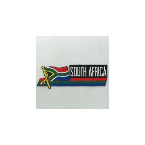 SOUTH AFRICA SIDEKICK WORD COUNTRY FLAG IRON ON PATCH CREST BADGE
