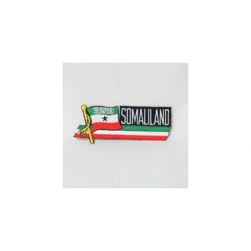 SOMALILAND SIDEKICK WORD COUNTRY FLAG IRON ON PATCH CREST BADGE