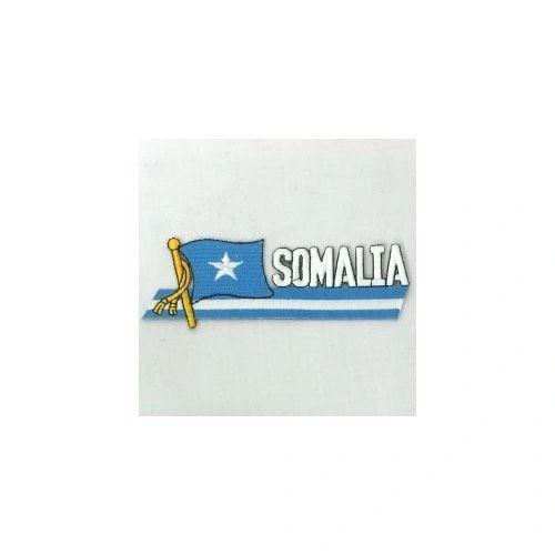 SOMALIA SIDEKICK WORD COUNTRY FLAG IRON ON PATCH CREST BADGE
