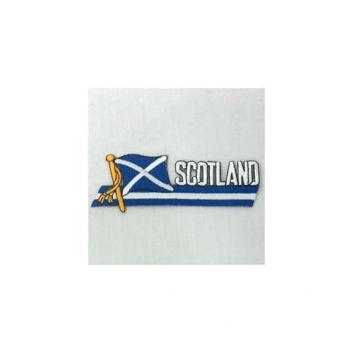 SCOTLAND SIDEKICK WORD COUNTRY FLAG IRON ON PATCH CREST BADGE